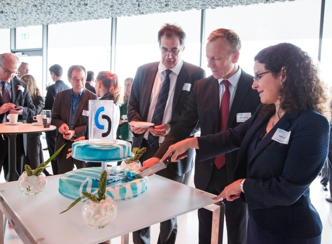 Sabine Döbeli and Klaus Tischhauser celebrate the launch of SSF