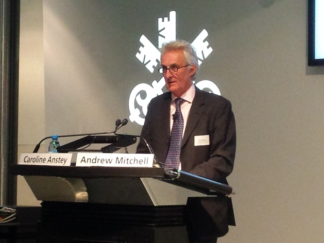 Andrew Mitchell, outlines the program and welcomes the speakers