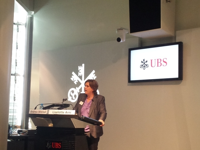 Liselotte Arni, UBS, explains UBS's efforts embedding natural capital considerations