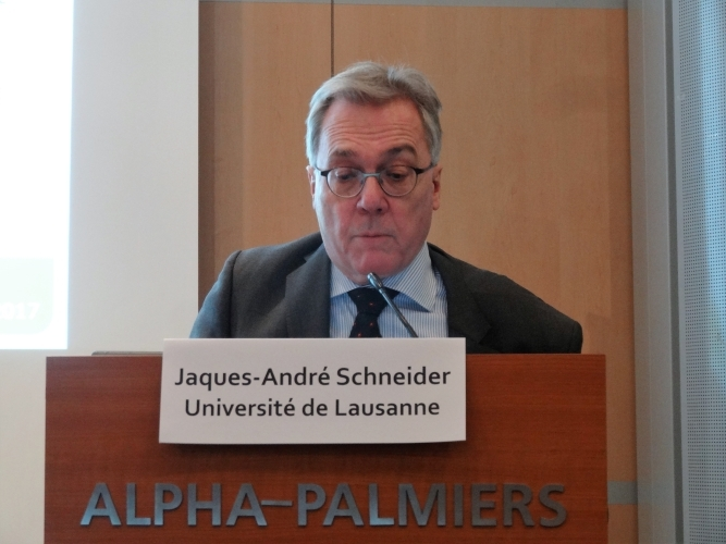 Prof. Jacques-André Schneider (Prof. of Law, Uni. of Lausanne) discussed fiduciary duty and ESG