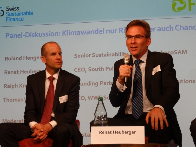 Renat Heuberger contributes more insight during the panel