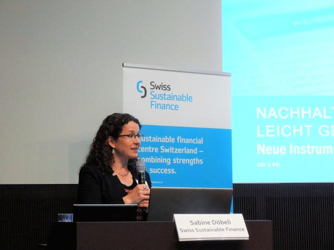Sabine Döbeli, CEO, SSF welcomes participants