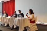 Sabine Döbeli moderating the panel