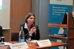 Panelist Pascale Pfeiffer (Head of Sustainability and Art, Mobiliar)